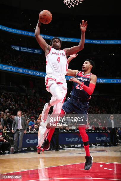 Danuel House Jr #4 dunks the ball against the Washington Wizards on November 26 2018 at Capital One Arena in Washington DC NOTE TO USER User...