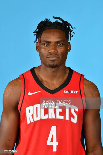 Danuel House Jr. #4 of the Houston Rockets poses for a head shot during media day on September 27, 2019 at The Post Oak Hotel in Houston, Texas. NOTE...
