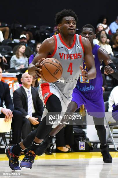 Danuel House Jr #4 of the Rio Grande Valley Vipers handles the ball against the South Bay Lakers during the NBA G League on February 8 2019 at the...