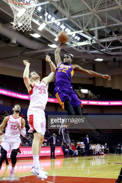 Danuel House of the Northern Arizona Suns dunks the ball against Memphis Hustle during an NBA GLeague game on February 21 2018 at Landers Center in...