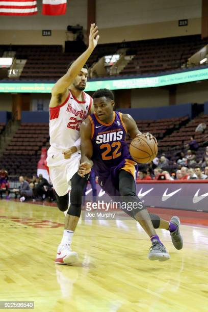 Danuel House of the Northern Arizona Suns handles the ball against Memphis Hustle during an NBA GLeague game on February 21 2018 at Landers Center in...