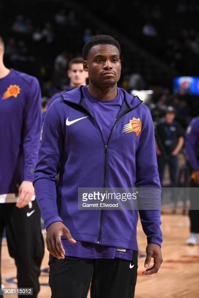 Danuel House of the Phoenix Suns warms up prior to the game against the Denver Nuggets on January 19 2018 at the Pepsi Center in Denver Colorado NOTE...