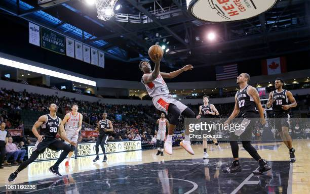 Danuel House of the Rio Grande Valley Vipers drives to the basket against the Austin Spurs during a NBA GLeague game on November 13 2018 at the HEB...