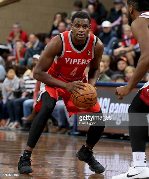 Danuel House of the Rio Grande Valley Vipers looks to make a move against Kris Jenkins from the Sioux Falls Skyforce during an NBA GLeague game on...