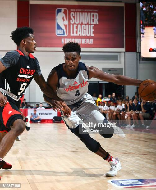 Danuel House of the Washington Wizards handles the ball against the Chicago Bulls during the 2017 Summer League on July 11 2017 at the Cox Pavilion...