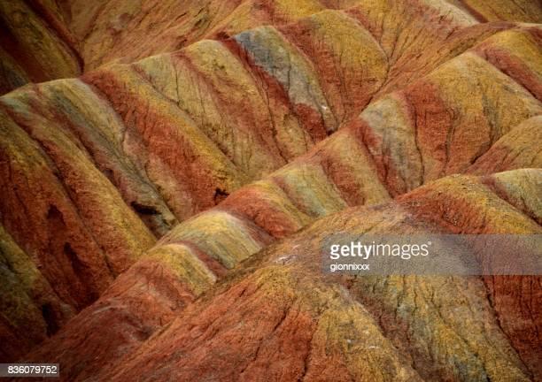 中国、甘粛省張掖 danxia 地形地質公園 - 丹霞地形 ストックフォトと画像