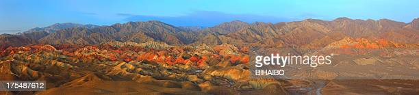 danxia landform in zhangye - painted hills stock pictures, royalty-free photos & images