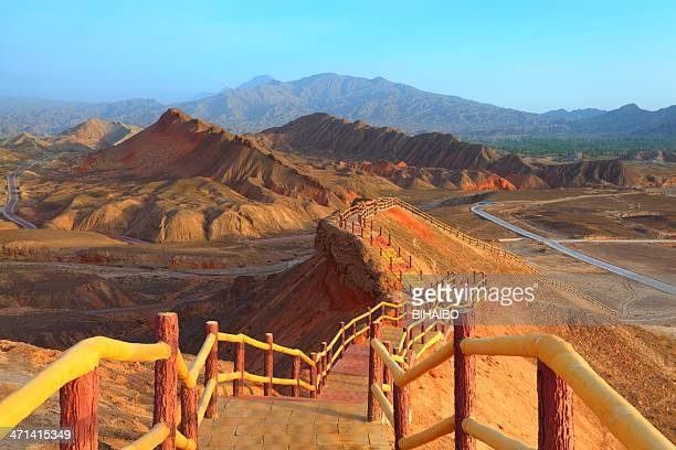 danxia landform - east asia stock pictures, royalty-free photos & images