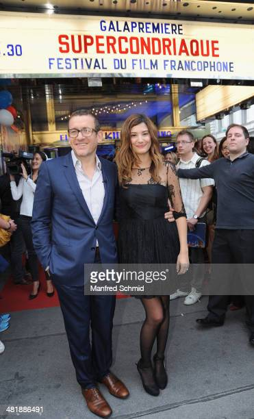 Dany Boon and Alice Pol pose for a photograph at the Festival Du Film Francophone at Gartenbau cinema on April 1 2014 in Vienna Austria