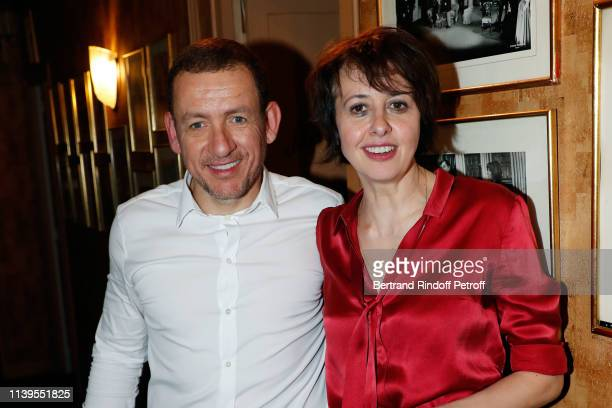 Dany Boon and Valerie Bonneton attend Huit Euro de l'Heure Theater Play at Theatre Antoine on March 31 2019 in Paris France
