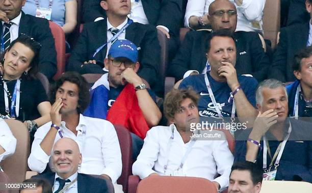 Dany Boon Jacques Essebag aka Arthur attend the 2018 FIFA World Cup Russia Final match between France and Croatia at Luzhniki Stadium on July 15 2018...