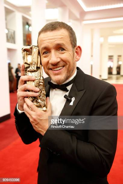 Dany Boon poses with the best public audience Award during the Cesars Film Award at Salle Pleyel on March 2 2018 in Paris France