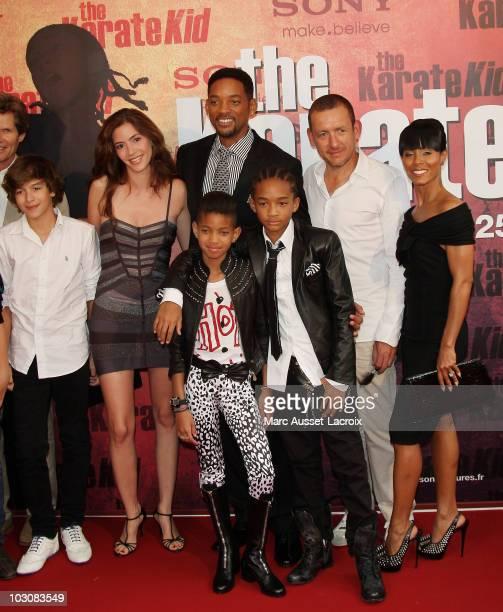 Dany Boon's wife Yaelle, Will Smith, Willow Smith, Jaden Smith, Dany Boon, Jada Pinkett Smith pose at 'The Karate Kid' Paris Premiere - Photocall at...