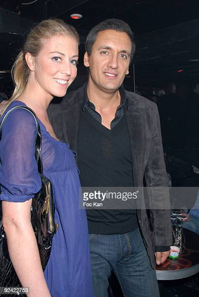 Dany Brillant and Girl friend Nathalie attend the Disco Paris Premiere After Party at the Queen Club on April 01 2008 in Paris France