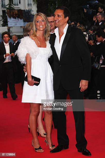 Dany Brillant and guest arrives at the premiere for the film 'Vicky Cristina Barcelona' at the Palais des Festivals during the 61st International...