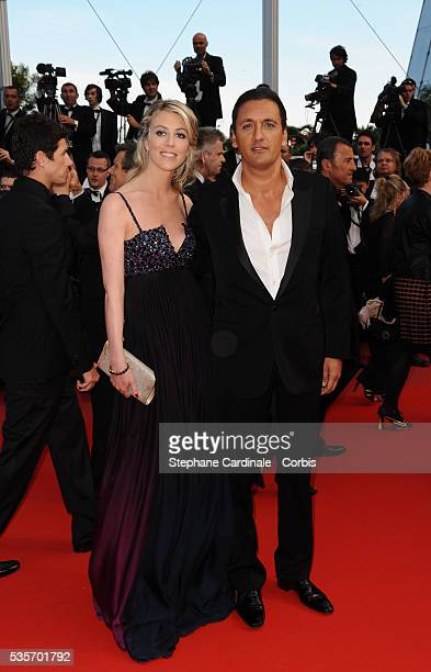 Dany Brillant and his wife at the premiere of Wall Street Money never sleeps during the 63rd Cannes International Film Festival