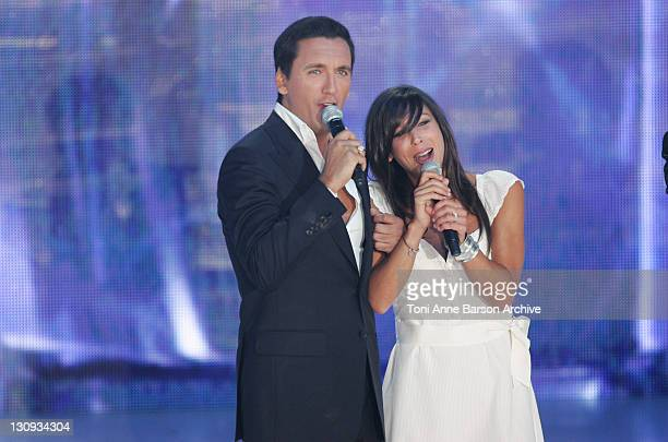 Dany Brillant and Rose during FRANCE2 Television Show Tenue de Soiree Live from Cannes at Palm Beach in Cannes France