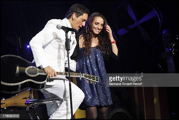 Dany Brillant Chante and daughter Lea at The Last Dany Brillant Salsa Tour At Au Palais Des Sports In Paris