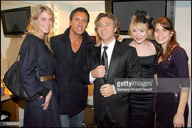 "Dany Brillant, fiancee Nathalie, Roberto Alagna, Julie Depardieu and Ornella Alagna at ""Sicilien"" - Tenor Roberto Alagna Performs Traditional..."