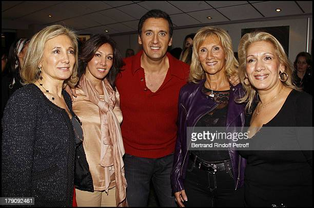 Dany Brillant in between mother Mireille and aunties Claudine Chantal Josiane at The Last Dany Brillant Salsa Tour At Au Palais Des Sports In Paris