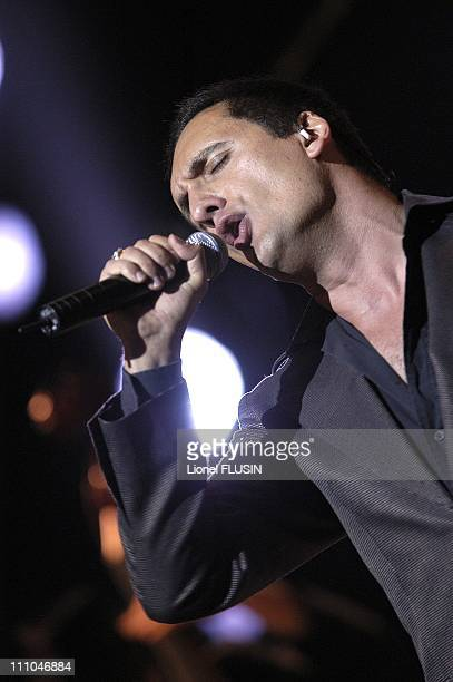 Dany Brillant performs at the Grand Casino in Geneve Switzerland on March 17th 2005