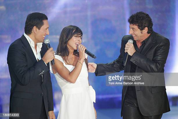 Dany Brillant Rose and Patrick Bruel during FRANCE2 Television Show Tenue de Soiree Live from Cannes at Palm Beach in Cannes France