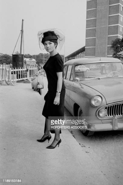 Dany Carrel lors du tournage du film 'Du grabuge chez les veuves' réalisé par Jacques Poitrenaud à Paris le 13 septembre 1963 France