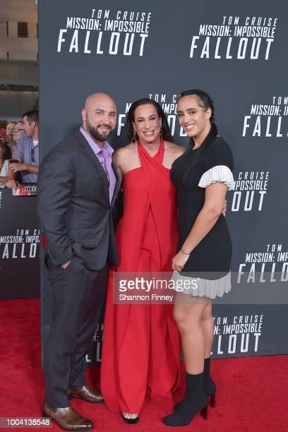 Dany Garcia along with her husband Dave Rienzi and her daughter Simone Alexandra Johnson attend the US Premiere of Mission Impossible Fallout at...
