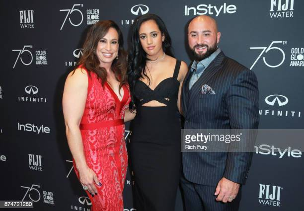 Dany Garcia Simone Garcia Johnson and Dave Rienzi attend the Hollywood Foreign Press Association and InStyle celebrate the 75th Anniversary of The...