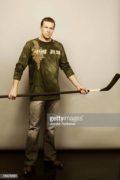 Dany Heatley of the Ottawa Senators poses for a photo on January 24, 2007 at the Crescent Court Hotel in Dallas, Texas.