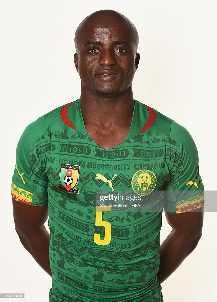 lowest price 50c4b a9c70 Dany Nounkeu of Cameroon poses during the official FIFA ...