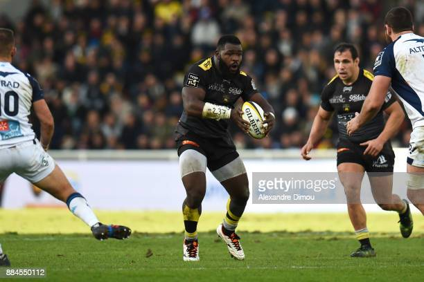 Dany Priso of La Rochelle during the Top 14 match between La Rochelle and Montpellier on December 2 2017 in La Rochelle France
