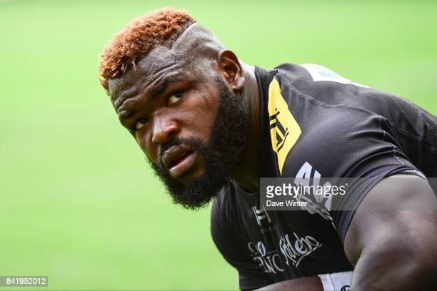 Dany Priso of La Rochelle during the Top 14 match between Stade Francais and La Rochelle on September 2 2017 in Paris France