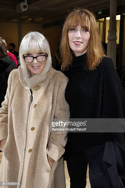 Dany Saval and her daughter Stephanie Jarre attend the Azzedine Alaia Fashion Show at Azzedine Alaia Gallery on October 23 2016 in Paris France