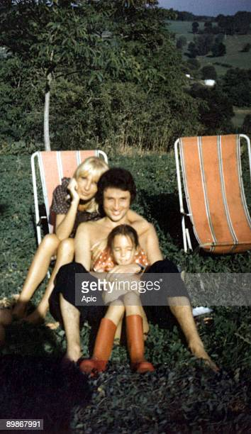Dany Saval Michel Drucker and Stephanie Jarre on holiday in the Dordogne 1972