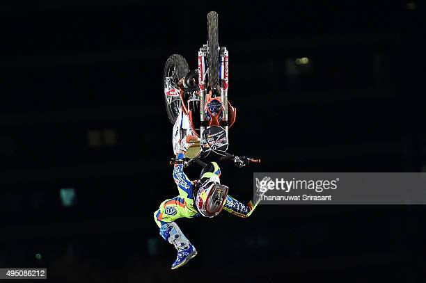 Dany Torres of Spain rides during the Red Bull XFighters World Tour 2015 on October 30 2015 in Abu Dhabi United Arab Emirates