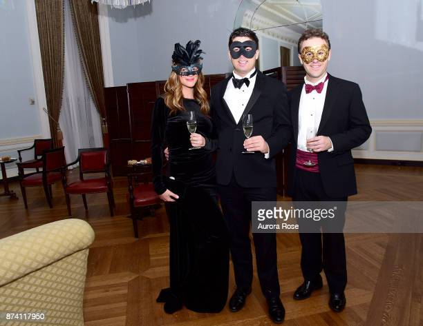 Danya Elias George Jones and Andrew Bevan attend Search and Care's Annual Yorkville Ball at Private Club on November 10 2017 in New York City