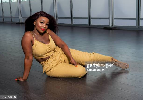 Danyelle Nelson wearing custom Jewelry by Jimeye Designs at TAP visits The McCord List on September 27 2019 in Los Angeles California