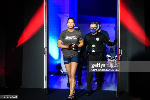 Danyelle Wolf walks out prior to her fight against Taneisha Tennant during week seven of Dana White's Contender Series season four at UFC APEX on...