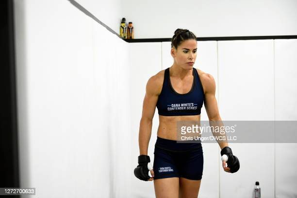 Danyelle Wolf warms up backstage during week seven of Dana White's Contender Series season four at UFC APEX on September 15, 2020 in Las Vegas,...
