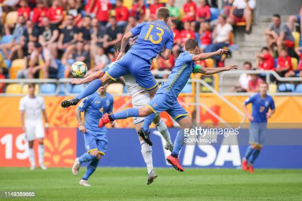 Danylo Beskorovainyi of Ukraine seen in action during the FIFA U-20 World Cup match between Ukraine and Italy in Gdynia. .