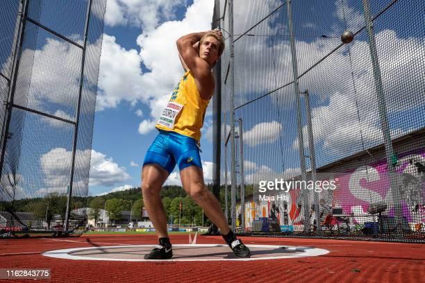 Danylo Fedrov of Ukraine competes during Hammer Throw Men on July 18 2019 in Boras Sweden