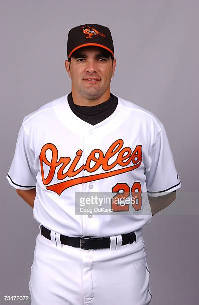 Danys Baez of the Baltimore Orioles poses during photo day at Ft Lauderdale Stadium on February 26 2007 in Ft Lauderdale Florida