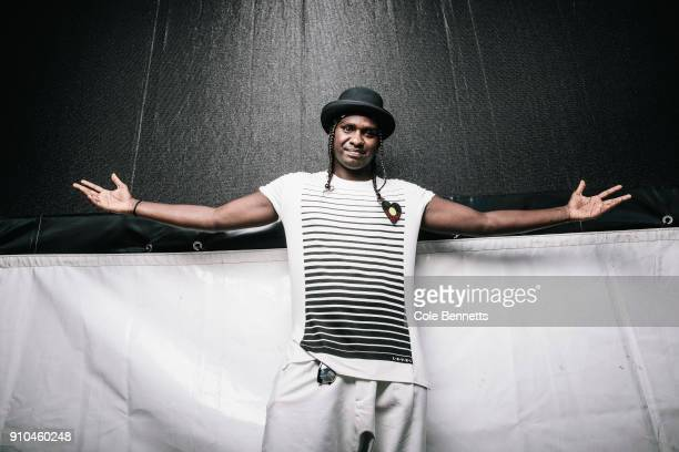 Danzal Baker who performs as Baker Boy poses for portraits on January 26 2018 in Sydney Australia Baker Boy is an Indigenous Australian known for...