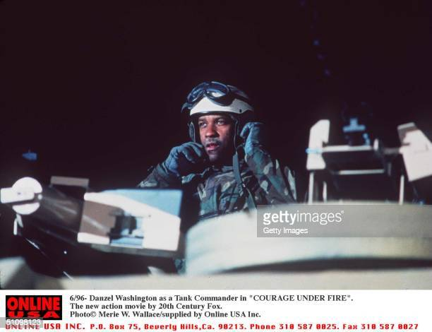 6/96 Danzel Washington As A Tank Commander In 'Courage Under Fire' The New Action Movie By 20Th Century Fox