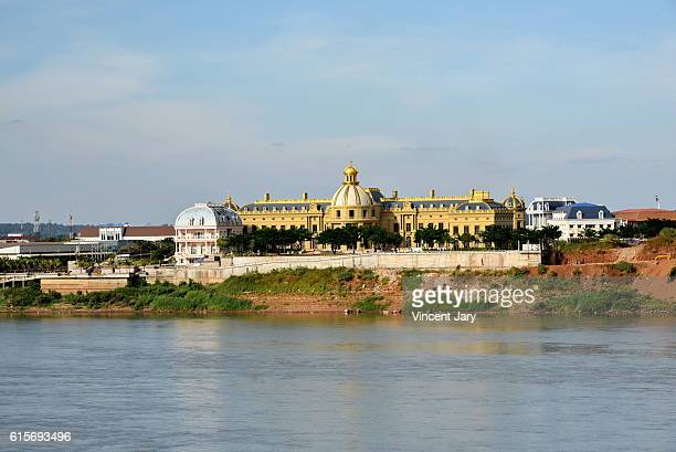 dao heuang group palace at pakse laos - laotian culture stock pictures, royalty-free photos & images