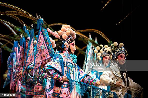 Daomadan performance in a popular play based on the women generals of the Yang Family legends in Song Dynasty Peking opera or Beijing opera is a form...