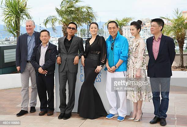 Daoming Chen Li Gong Yimou Zhang Huiwen Zhang and producer Zhang Zhao attend the Coming Home photocall at the 67th Annual Cannes Film Festival on May...