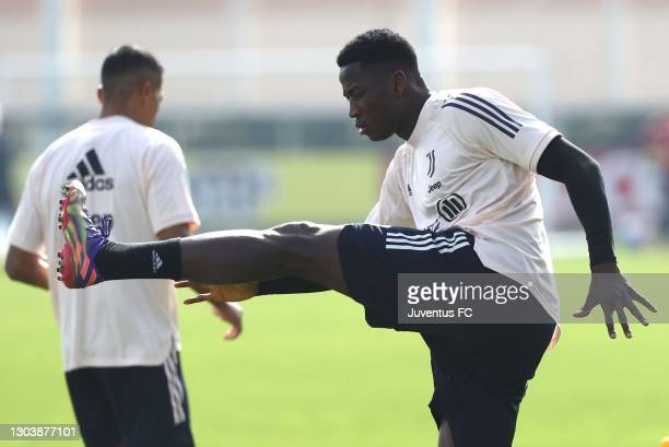 Daouda Peeters of Juventus FC trains during Juventus FC training session at JTC on February 24, 2021 in Turin, Italy.