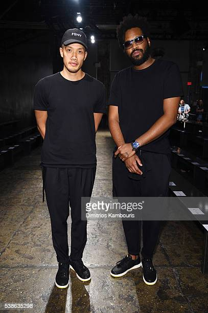 DaoYi Chow and Maxwell Osborne atttend Public School's Women's and Men's Spring 2017 collection at Cedar Lake on June 7 2016 in New York City